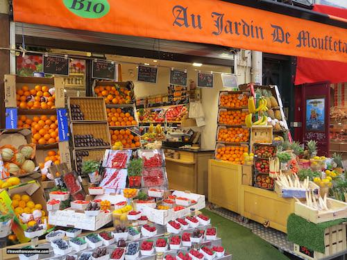 Fruit shop in Rue Mouffetard