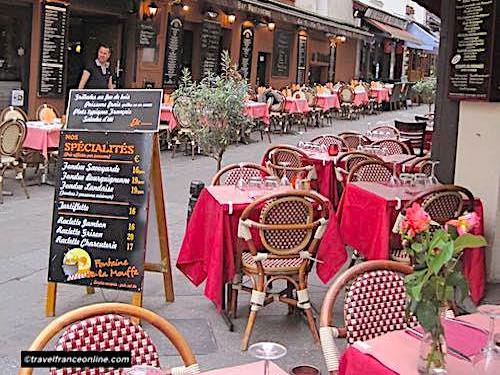 Restaurants in Rue Mouffetard
