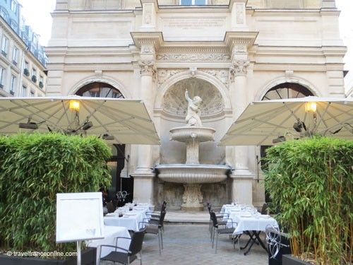 Fontaine Gaillon and restaurant