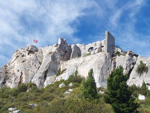 Les Baux-de-Provence ruined fortress