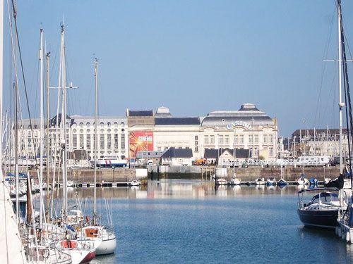 Marina and casino of Deauville