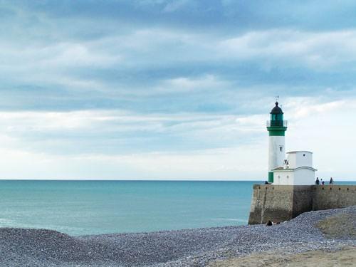 Le Treport lighthouse on Alabaster Coast