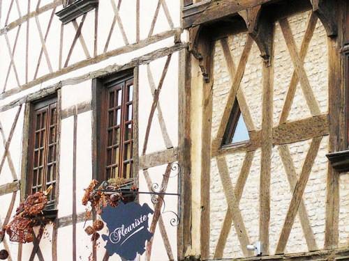 Medieval facades in Billom