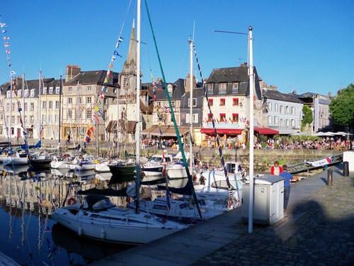 Honfleur port and St. Etienne Church