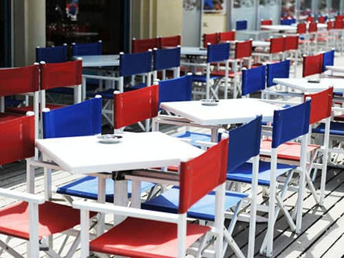Tables and Directors chairs - Les Planches de Deauville