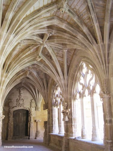 Cloister's Gothic Flamboyant Gallery and Renaissance door
