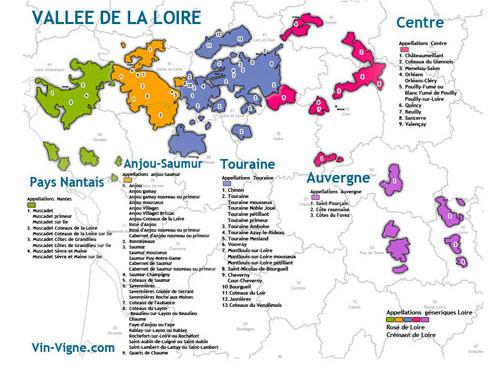 Loire Valley Vineyard map