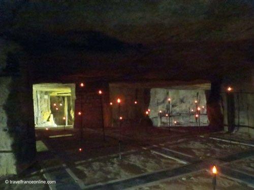 Remembrance lights in the Caverne du Dragon