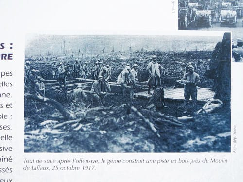 La Royere - Battlefield after the offensive of 25 October 1917