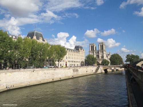 River Seine by Notre-Dame Cathedral