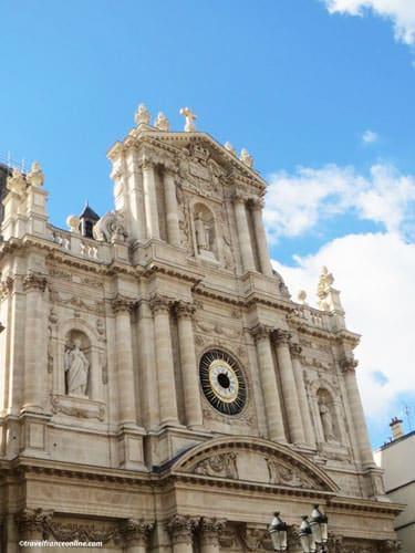 Saint-Paul Saint-Louis Church - Baroque facade on rue St-Antoine
