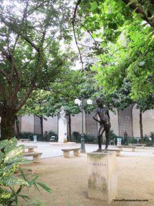 Square Gabriel Pierne - Carolina sculpture