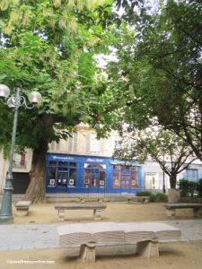 Square Gabriel Pierne - Bench and catalpa tree