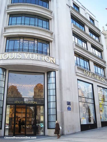Louis Vuitton store on Champs-Elysees