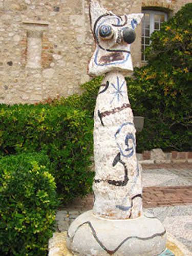 Sculpture by Miro in Antibes