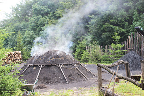 Nothing has really changed in the traditional production of charcoal