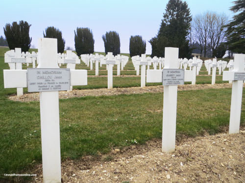 Douaumont Ossuary - Graves of the soldiers recovered from Fleury-devant-Douaumont