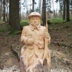 Fleury-devant-Douaumont, Village Detruit - French Poilu wooden statue