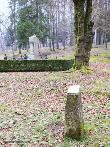 Fleury-devant-Douaumont, Village Detruit - War Memorial erected by the site of the village school