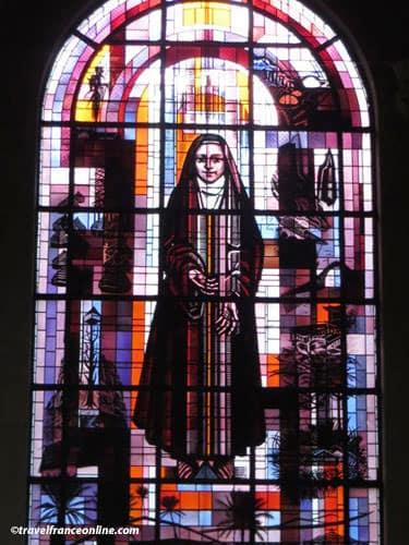 Saint Francois Xavier Church - Stained-glass window depicting Ste. Madeleine Barat