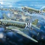 Dakotas above Saint-Clair-sur-l'Elle on June 6,1944