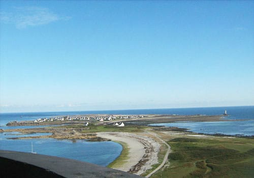 Ile de Sein seen from the lighthouse
