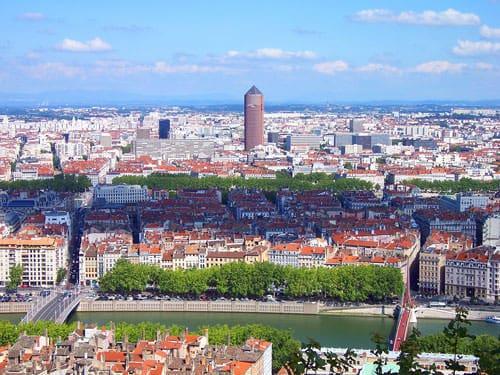 Lyon seen from the Colline de Fourvière