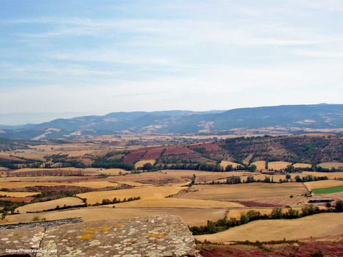 Rougier de Camares with Monts de Lacaune in the background