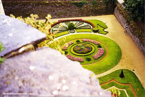 Angers castle -Formal gardens in former moats