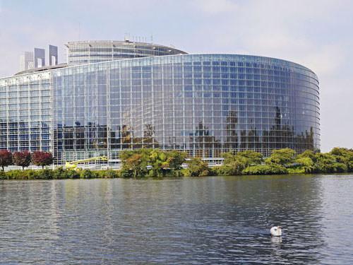 European Parliament in Strasbourg in Alsace