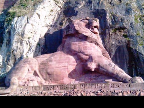 Lion de Belfort monumental sculpture in the city of Belfort - Franch Comte