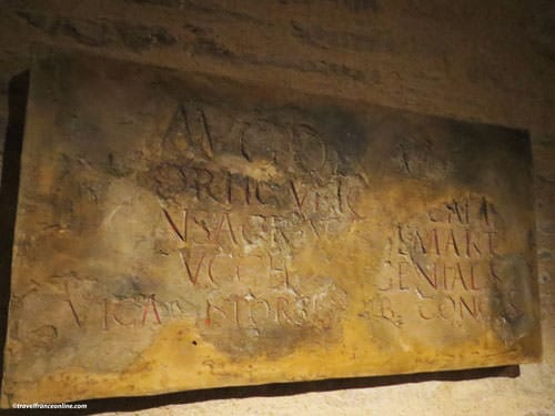 Gallo-Roman inscriptions recovered on the site of the Castle of the Dukes of Brittany in Nantes
