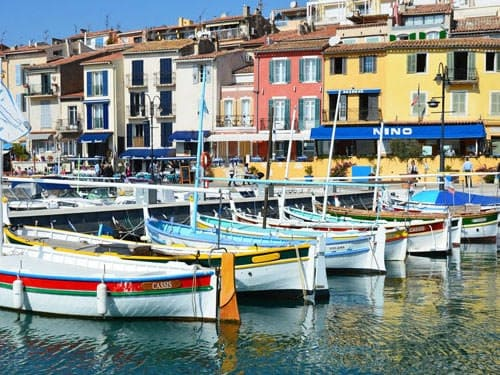 Fishing boats in the port of Cassis