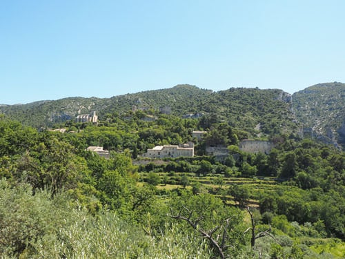 Oppede-le-Vieux nestled in the lush vegetation