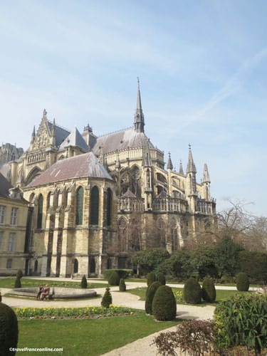 Reims Cathedral and gardens
