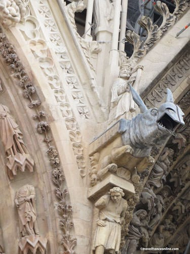 Reims Cathedral - Sculptures and gargoyles