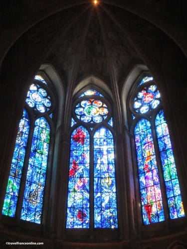 Reims Cathedral - Stained-glass windows by Marc Chagall