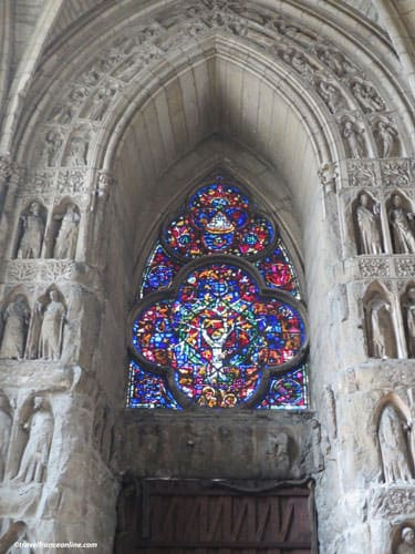13th century stained-glass windows in Reims Cathedral