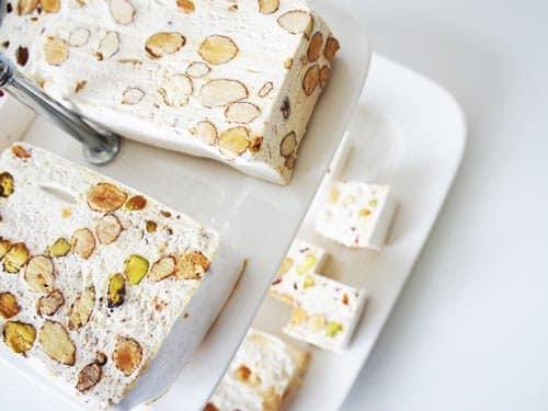 Nougat de Montelimar with almonds and pistachios