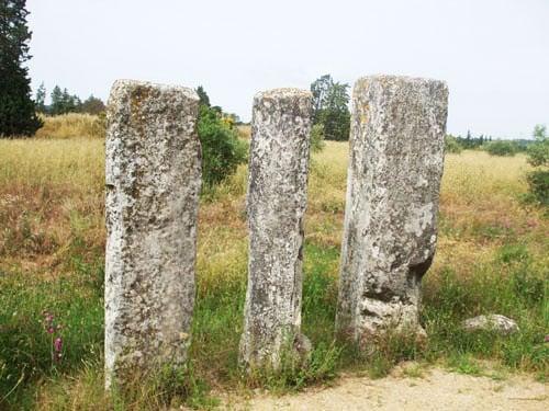Caesar milestones along the Via Domitia in Beaucaire