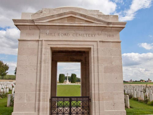 Mill Road Cemetery entrance