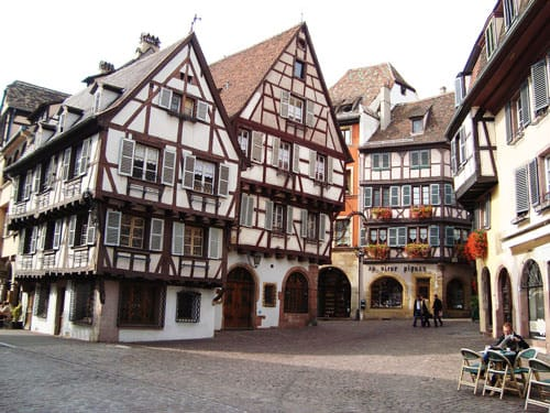 Timber framed houses in Eguisheim