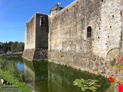 Chateau de Bricquebec - ditch