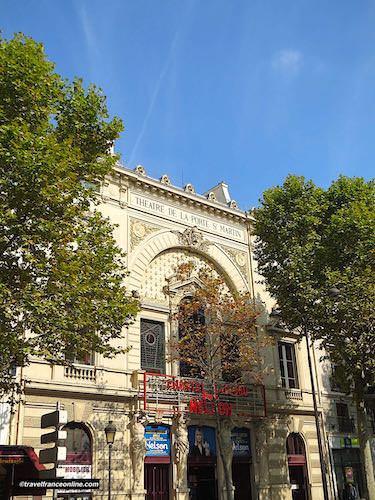 Theatre de la Porte Saint-Martin on the Grands Boulevards
