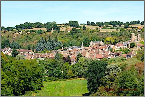 Village of Herisson on the hillside
