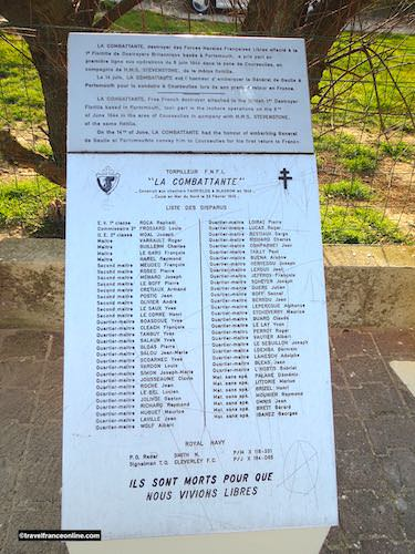 List of the men who died onboard La Comabttante when it was torpeded in 1945