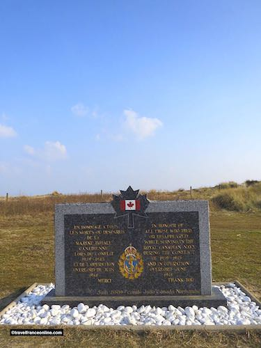 Canadian Royal Navy Memorial in Corseulles-sur-mer - Juno Beach War Memorials