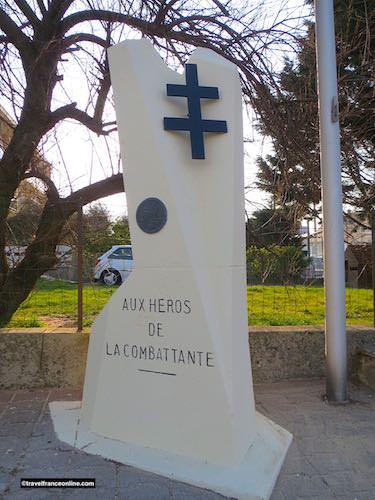 La Combattante Stele in Corseulles-sur-mer