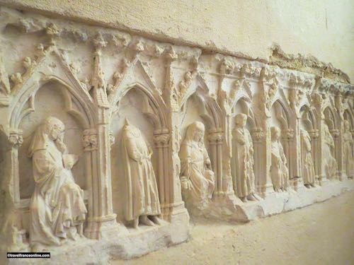Lessay Abbey - 15th century sculpted grave