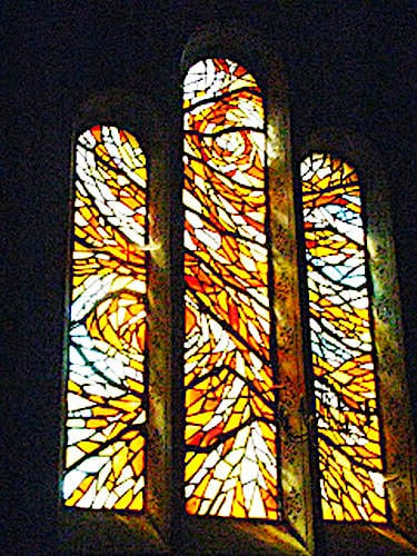 Saint-Cernin du Causse church - Contemporary stained-glass window
